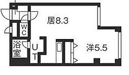 北海道札幌市清田区清田一条1丁目の賃貸マンションの間取り