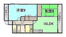 コンソラートTY[4階]の間取り