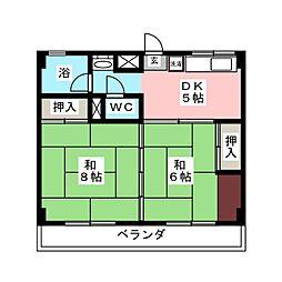 永瀬ビル[3階]の間取り