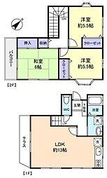 [テラスハウス] 千葉県八千代市萱田町 の賃貸【/】の間取り