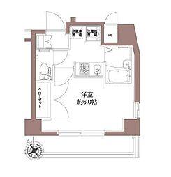 東京都品川区平塚3丁目の賃貸マンションの間取り