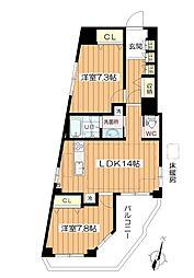 江古田サンライトマンション[405号室]の間取り
