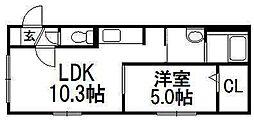 北海道札幌市豊平区月寒東一条10丁目の賃貸マンションの間取り