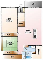 野田マンション[1階]の間取り
