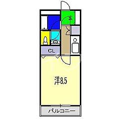 エストディオY[4階]の間取り