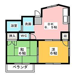田辺アパート[2階]の間取り