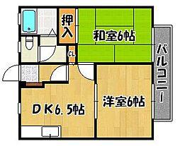 兵庫県神戸市西区玉津町水谷1丁目の賃貸アパートの間取り