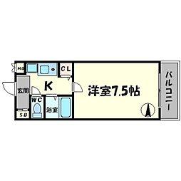 リヴァーシャロウ西三荘[3階]の間取り
