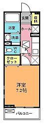 埼玉県北本市東間8の賃貸アパートの間取り