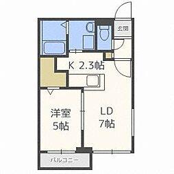 フェスタリア札幌[2階]の間取り