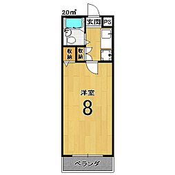 インペリアル桜[205号室]の間取り