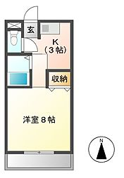 マーブルII[1階]の間取り