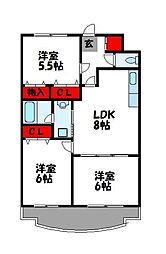 第23川崎ビル[403号室]の間取り
