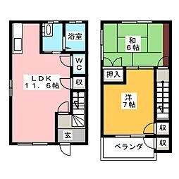 [テラスハウス] 静岡県三島市松本 の賃貸【/】の間取り