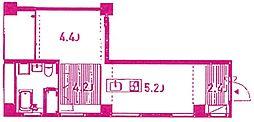 blanco cubo[4階]の間取り