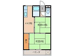 マンション栄久保[2階]の間取り