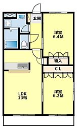 愛知県豊田市今町3丁目の賃貸マンションの間取り