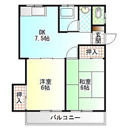 内田アパート[202号室]の間取り