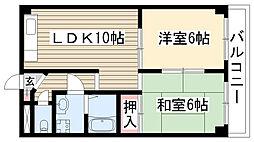 愛知県名古屋市守山区永森町の賃貸マンションの間取り
