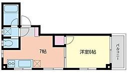 グランジュテ横浜VII[2階]の間取り