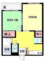 マツヤパークマンション[303号室]の間取り