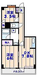 ウィンシティ本八幡[4階]の間取り