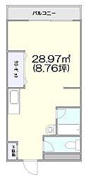 ステラハイム富ヶ谷[2階]の間取り