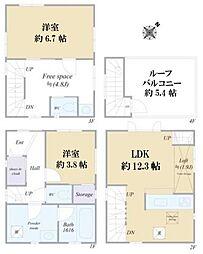 千石3丁目 築浅戸建2012年3月築 駅近8分 ルーバル付 2LDKの間取り