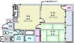 ヌーボー豊門[2階]の間取り