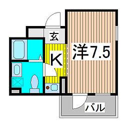 カーサ大戸[1階]の間取り