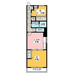 ボナール[3階]の間取り