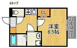 セジュールMARUGEN B棟[1階]の間取り