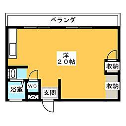 宮吉島田コーポ[4階]の間取り