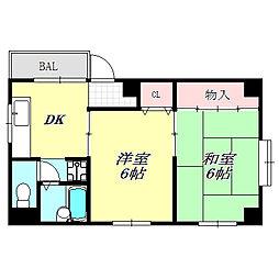 兵庫県神戸市中央区宮本通1丁目の賃貸マンションの間取り