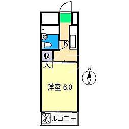 永国寺ハイツ[4階]の間取り