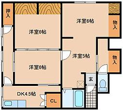 兵庫県神戸市長田区西山町4丁目の賃貸アパートの間取り