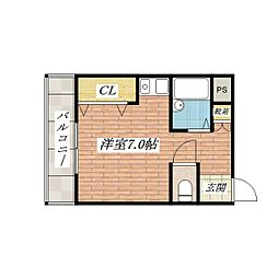 大阪府茨木市橋の内1丁目の賃貸マンションの間取り