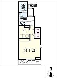 ブローテII[1階]の間取り