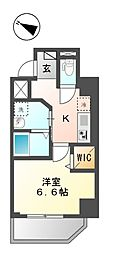 クレストコート 神楽坂 1階1Kの間取り