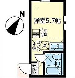 神奈川県横浜市金沢区乙舳町の賃貸アパートの間取り