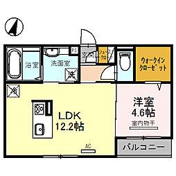 ルナピエーナA棟 3階1LDKの間取り