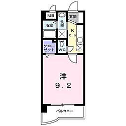 福岡県北九州市八幡西区西鳴水2丁目の賃貸マンションの間取り