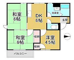 第3龍球園ハイツ[1階]の間取り
