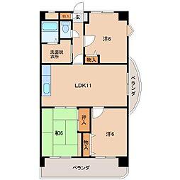 HIRATA WEST[1階]の間取り