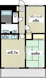 ステイトハイム[1階]の間取り