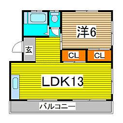 高橋マンション[301号室]の間取り
