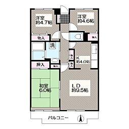 東京都江戸川区本一色3丁目の賃貸マンションの間取り