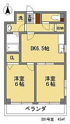 サリジェ21[201号室]の間取り
