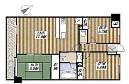 ダイアパレス昭島Ⅱ[2階]の間取り