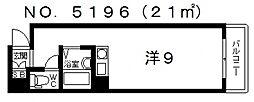 サンレスポワール[301号室号室]の間取り